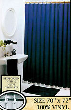 Solid Color Vinyl Shower Curtain Liner With Magnets And Metal Grommets