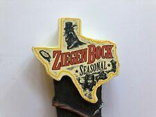 BEER TAP HANDLE ZIEGEN BOCK SEASONAL TEXAS STYLE!