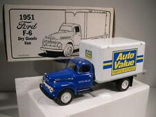 1992 First Gear 1951 Ford F-6 Dry Goods Van AUTO VALUE PARTS STORES 1/34 MIB
