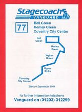 Bus Timetable Leaflet ~ Stagecoach Vanguard - 77: Coventry to Bell Green - 1994