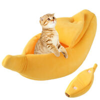 Banana Cat House Soft Warm Puppy Kennel Sleeping Bed House Tent Pet Supplies New