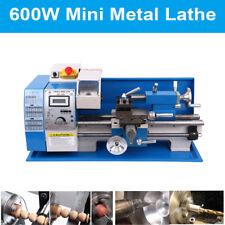 "7×12"" Digital Metal Turning Mini Lathe machine Automatic Metal Wood Drilling"