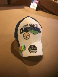 Official Locker Room Hat Pittsburgh Steelers Super Bowl XLIII Champions NFL