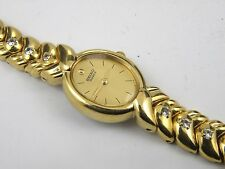 Woman's Vintage Gold Plated SEIKO 1N00-6B00 Quartz Dress Watch