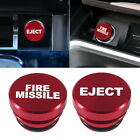 Universal Fire Missile Eject Button Car Cigarette Lighter Cover 12V Accessories