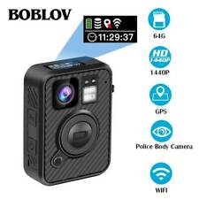 F1 2K 1440P Wearable Body Camera GPS With Audio 66 inch LCD Screen For Recording