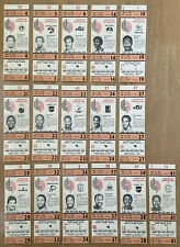 VINTAGE 1983-1984 NBA PORTLAND TRAILBLAZERS FULL TICKET LOT OF 15 - DREXLER RC