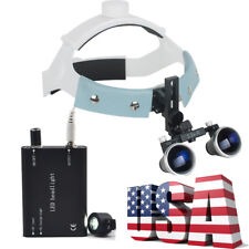 Dental Headband Surgical Medical Binocular Loupes 3.5X Comfortable LED Headlight