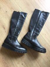 Ladies Black Boots Size UK 4 Euro 37 Shuropody Foot Clinic Memory Foam
