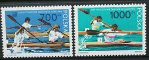 POLAND 1990 Sports: World Canoeing Championships. Set of 6. MNH. SG3305/3306.