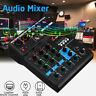 4 Channels USB Portable Mixer Bluetooth Record Live Studio Audio Mixing