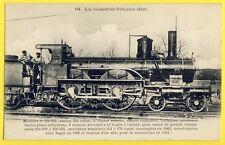 cpa LOCOMOTIVE de 1883 Chemins de Fer Français Muni d'un ABRI pour le Mécanicien