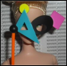 ACCESSORY BARBIE DOLL MASQUERADE GALA RENDEZVOUS COLORFUL WOODEN MASK  DIORAMA