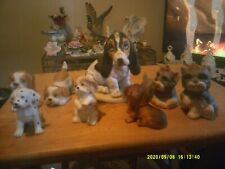 Lot of 8 Homco Dogs Including One Masterpiece Porcelain