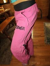 Zumba pants pink small cargo dance athletic sporty lounge