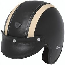 HELD RUNE CASCO JET CHOPPER jethelm CASCO MOTO RETRO XL nero beige
