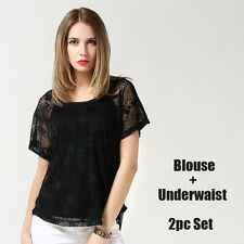 Lace Scoop Neck Tops & Shirts for Women