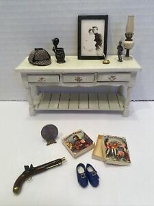 Vintage Artisan Gentlemen's Decor FINE Pieces Dollhouse Miniature 1:12