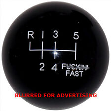Black F-in Fast -L 6 Speed shift knob for 2015-17 Mustang with rev. collar