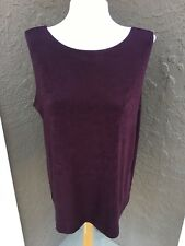 New Chico's Travelers RARE Dark Mulberry Reversible Tank Top Sz 3 = XL 16 18 NWT