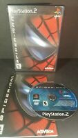 Spider-Man (Sony PlayStation 2, 2002) PS2 Tested Complete W/ Manual