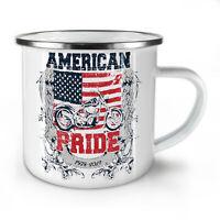 American Pride Biker NEW Enamel Tea Mug 10 oz   Wellcoda