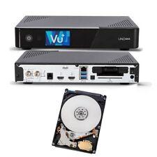 VU+ Uno 4K SE 1x DVB-S2 FBC Twin Tuner Linux 2160p  USB UHD mit 500GB Festplatte