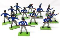 Vintage BRITAINS NAPOLEONIC DEETAIL. FRENCH Waterloo Infantry x 12.