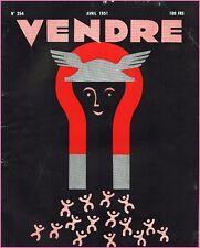 ▬►MARKETING PUBLICITÉ  -- VENDRE N° 254 (AVRIL 1951) --  COVER PAUL SCHMITT