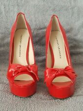 Chinese Laundry Red High Heel Open Toe Shoes - Size 7