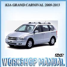KIA GRAND CARNIVAL 2009-2013 WORKSHOP REPAIR SERVICE MANUAL IN DISC