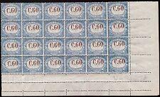SAN MARINO SEGNATASSE 1925 - 60 c. n T23 BLOCCO INTEGRO VARIETA' NON CATALOG.