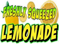 FRESH SQUEEZED LEMONADE LEMON ADE VINYL DECAL (CHOOSE A SIZE)BOARDWALK SHOPS