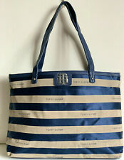 NEW! TOMMY HILFIGER BLUE GRAY SATCHEL SHOPPER TOTE BAG PURSE $118 SALE