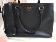Prada Lux Tote Bag - Signature Black Saffiano Calf Leather