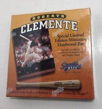 Roberto Clemente Pittsburgh Pirates Signature Miniature Bat 1 of 10000 Sealed