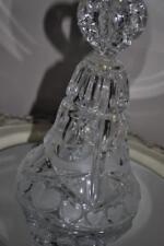 Price Products Crystal Bell With Frosted Hearts Large West Germany Vintage