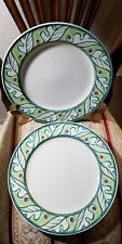 (2) Dinner plates Color Vive by Mikasa CAC89  NO UTINSIL MARKS LOOK UNUSED