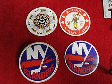 ANTIQUE RETRO NY Islanders ROUND Playing Cards 1970s poker blackjack solitare