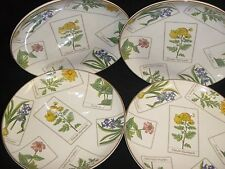 "TIFFANY & CO. SET OF 4 ""BOTANICAL"" LUNCHEON PLATES 1996"