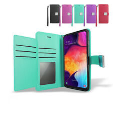 For T-Mobile/ Metro Samsung Galaxy A20 Double Wallet Leather Folio  Case Cover