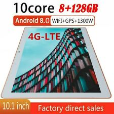 10.1 Pouces Tablette Tactile WiFi 4G-LTE Tablet 128GB PC Android 8.0 Doule SIM