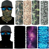 Bandana Head Camo Face Sun Neck Gaiter Snood Tube Scarf Neckerchief Outdoor
