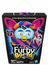 "Furby Boom 2012 5"" Interactive Electronic Toy APP Diagonal Stripes Orange Blue"
