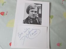 Douglas Fielding Sgt Quilley in Z Cars Actor Original Hand Signed Display