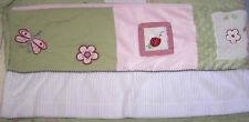 Kidsline Ladybug Pink Green Plush Minky Dot Baby Girl Nursery Window Valance EUC