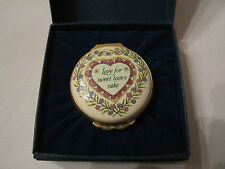 "1989 Halcyon Days Enamel Box ""Valentine'S Day"" In Original Box - Mint Condition"