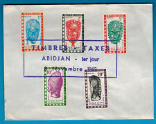 1962-Lettre.Timbre-Taxe-Cote D'ivoire -Abidjan -Ecole d'art - Yt.24/8 - Réf.C60