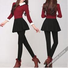 Leggings con minigonna Jeggings Cotone Nero Pantaloni Asian style 34 36 38 XS S