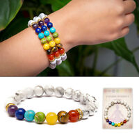 7 Chakra Bracelet. Christal Stones Healing Beads Jewellery. Natural Reiki gift